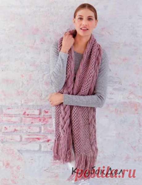 Шарф с аранским узором. Вязаные спицами шарфы для женщин, схемы и описание вязания на спицах