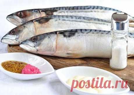 La caballa cocido\u000a\u000aLa más receta simple de la preparación de la caballa. El pez se prepara simplemente, rápidamente, pero resulta muy sabroso. Aconsejo preparar a la caballa cocida.\u000a\u000aComo Ud será necesario:\u000a\u000aLa caballa svezhemorozhennaya 3 piezas\u000aLa mostaza 3 ch.l.\u000aLa mayonesa 3 ch.l.\u000aLa sal por gusto\u000a\u000aComo preparar:\u000a\u000aLa etapa 1.\u000aEn la lista de los ingredientes he escrito la composición básica de la receta. Sin embargo por la experiencia sé, todos los componentes de la marinada son fácilmente sustituidos. Esta vez a mí no resultó la mostaza regular, solamente francés (con ze...