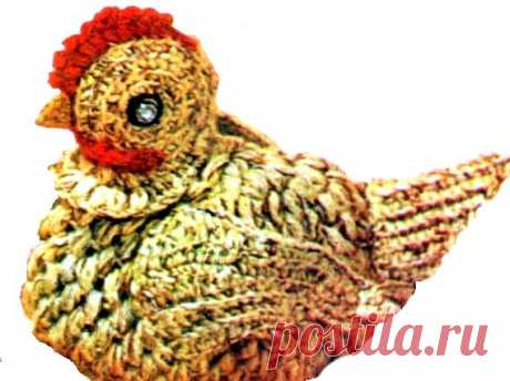 Тысяча Советов » Грелка на чайник крючком — курица