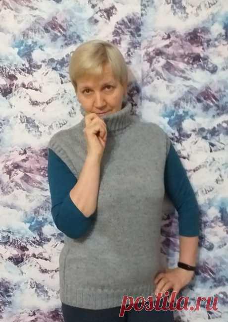Безрукавка – модель очень удачная! (Вязание спицами) – Журнал Вдохновение Рукодельницы