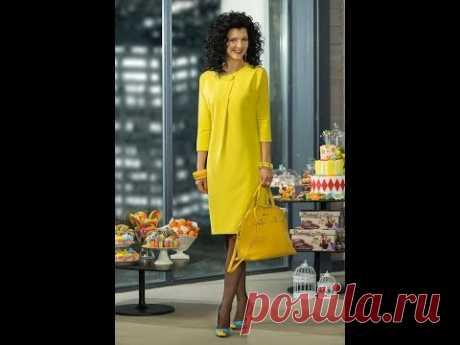 Платье со складкой от горловины. Моделируем.