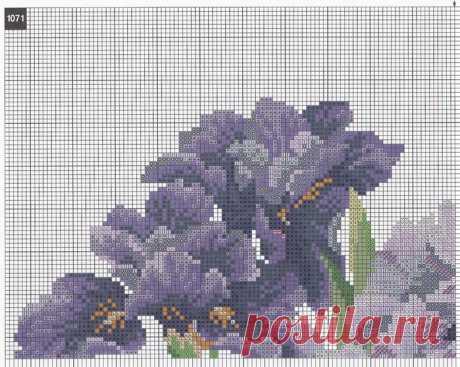 Вышивка крестом цветы в вазе. Бесплатные схемы по вышивке крестом   Домоводство для всей семьи.