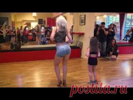 Sara Lopez baila Kizomba Lady Style con una niña!