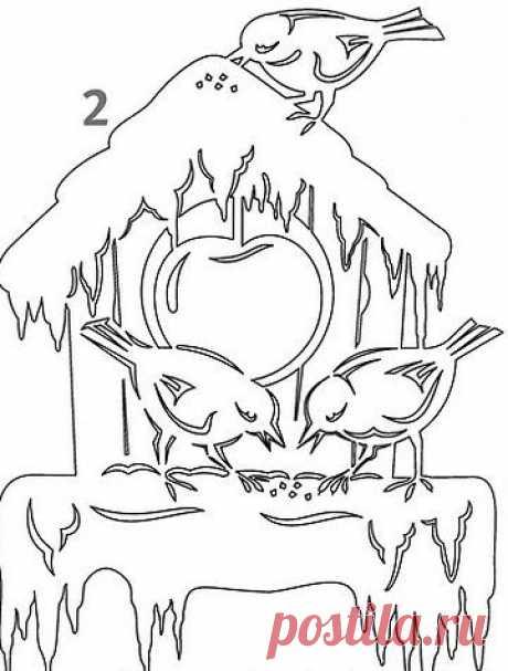 Новогодние рисунки на окнах: трафареты для вырезания. Новогодние рисунки на окнах гуашью, красками, зубной пастой, из бумаги
