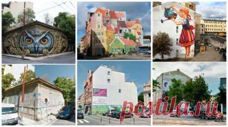 Удивительные стрит-арт превращения: до и после / Туристический спутник