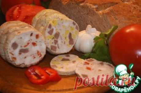 Куриная ветчина с языком и пикантными гранулами - кулинарный рецепт