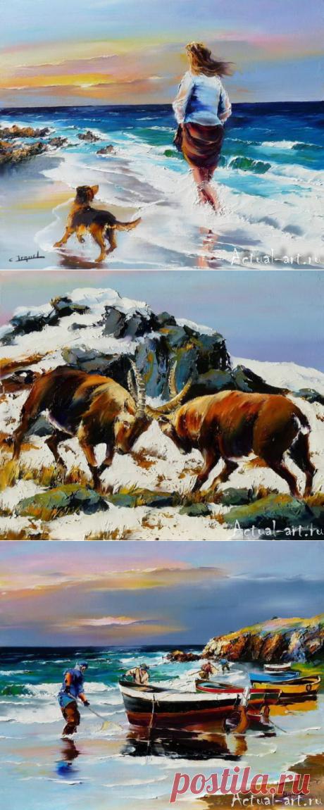 Christian Jequel – шикарная мастихиновая живопись | Actual-art.ru