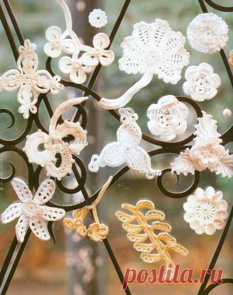 Жемчужная библиотека DMC Irish Crochet Lace ☆ всё об ирландском кружеве / Вязание крючком