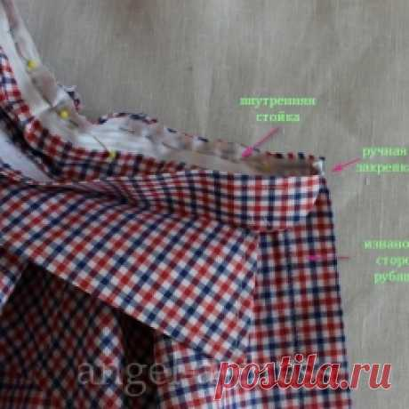 how to sew a shirt collar | the Creative workshop Angel And