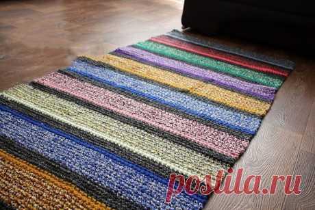 Вязаные коврики крючком: Идеи и схемы к ним