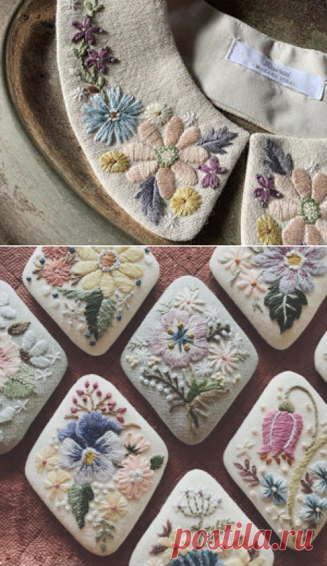 Невыносимая нежность бытия: японская мастерица украшает аксессуары вышивкой и превращает их в идеальные образчики женственности | Журнал Ярмарки Мастеров