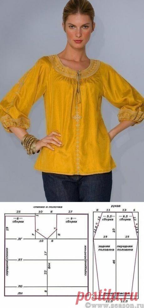 Cапожковская рубашка с выкройкой