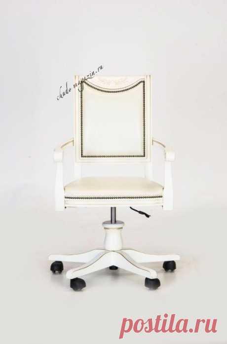 Светлое кресло на колесиках Габри-3 в Москве: фото,вид, материал массив бука