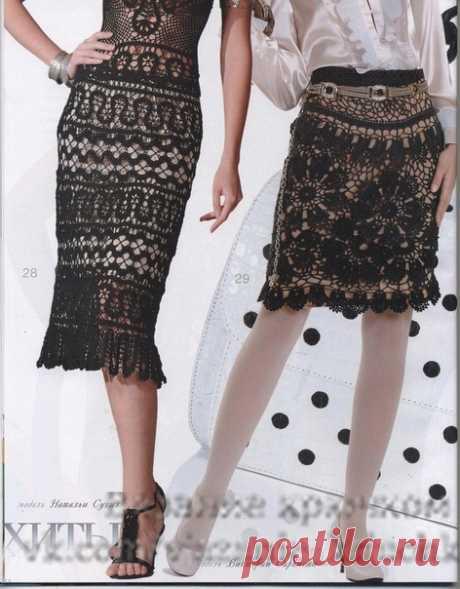 2 юбки брюггским кружевом