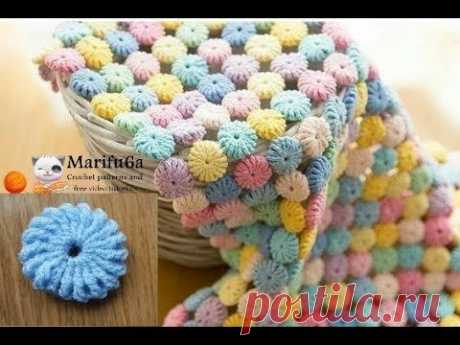 How to crochet Macaron circle afghan blanket free easy pattern #marifu6a #crochet