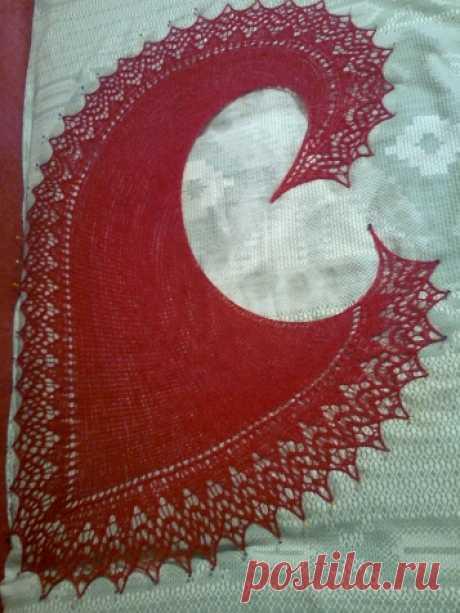 Моя первая шаль. / Вязание спицами / Вязание шали спицами