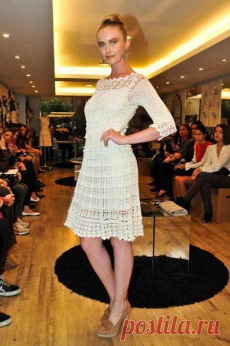 Нежное ажурное платье от Ванессы Монторо — Делаем руками