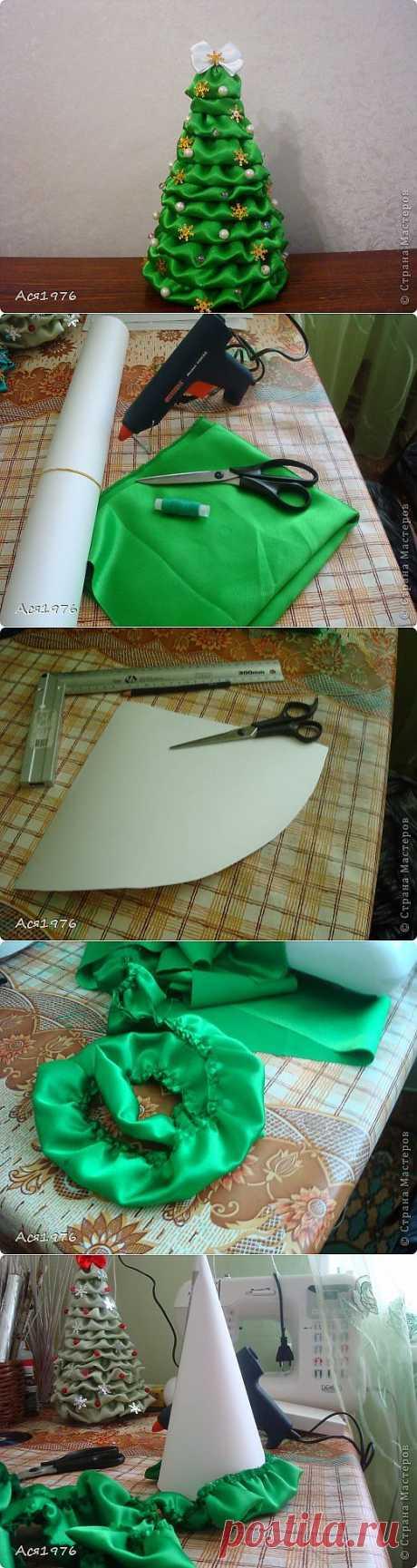 МК текстильной елочки