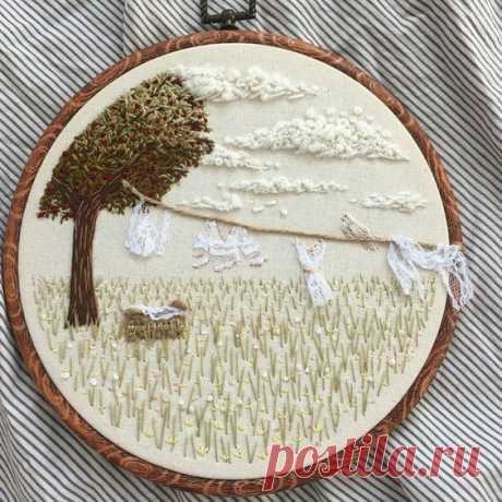 Необычные панно с объемной вышивкой: идеи для творческого вдохновения