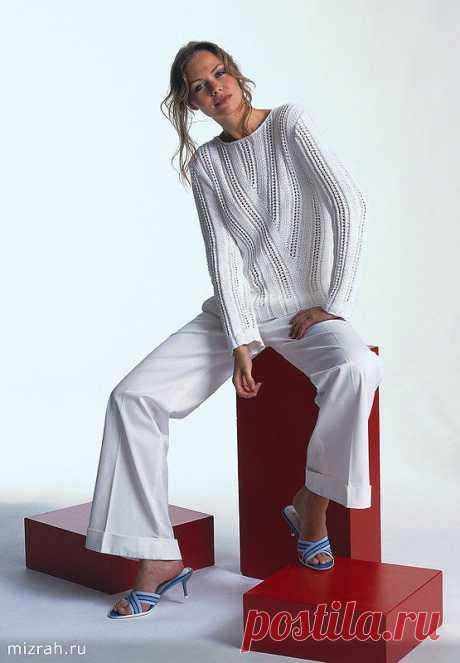 Модели навсегда: пуловеры спицами и крючком. Небольшая подборка.