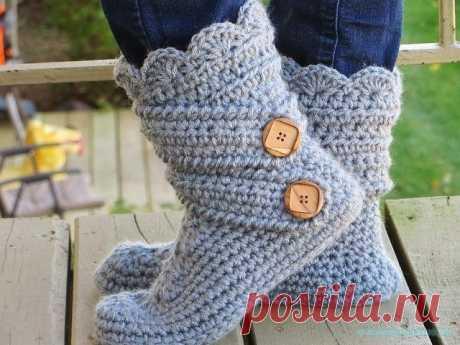 Носки крючком — Красивое вязание