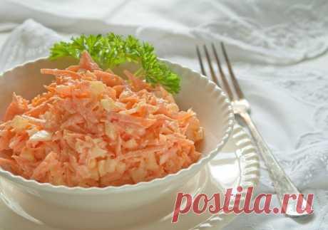 Интересные новости     Морковный салат с яйцом на 100грамм - 88.26 ккал Б/Ж/У - 6.08/4.95/4.54