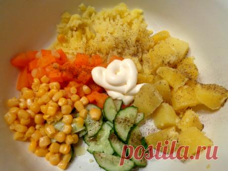 Японский картофельный салат / Простые рецепты