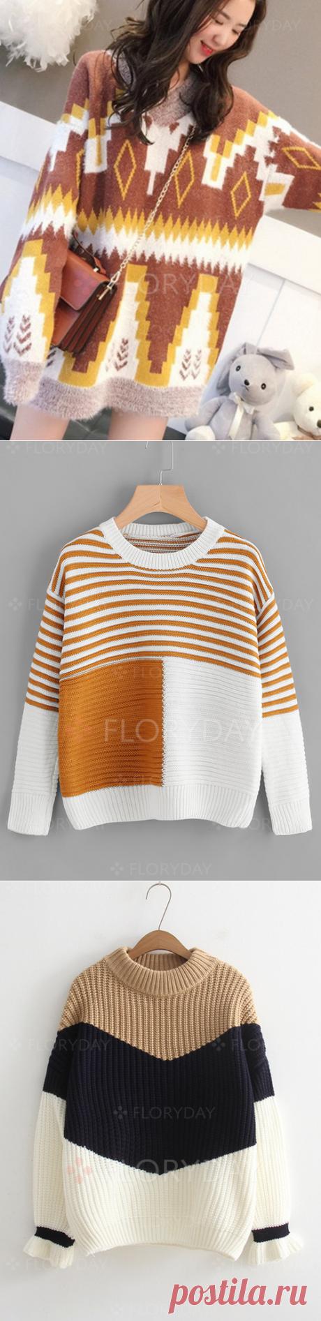 Яркие пуловеры. Идеи для остатков
