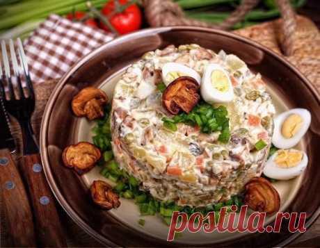 Оригінальний салатик, смачніший за «Олів'є» Зберігайте рецепт.