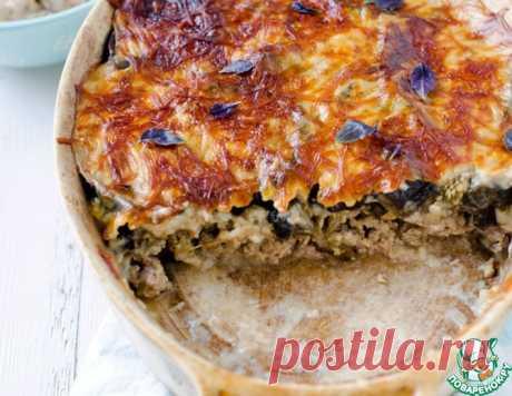Мясная запеканка под корочкой из баклажанов – кулинарный рецепт