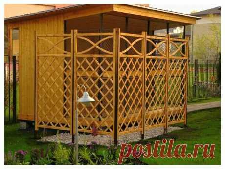 Как самостоятельно сделать деревянную решетку на даче | Полезности для дома | Яндекс Дзен