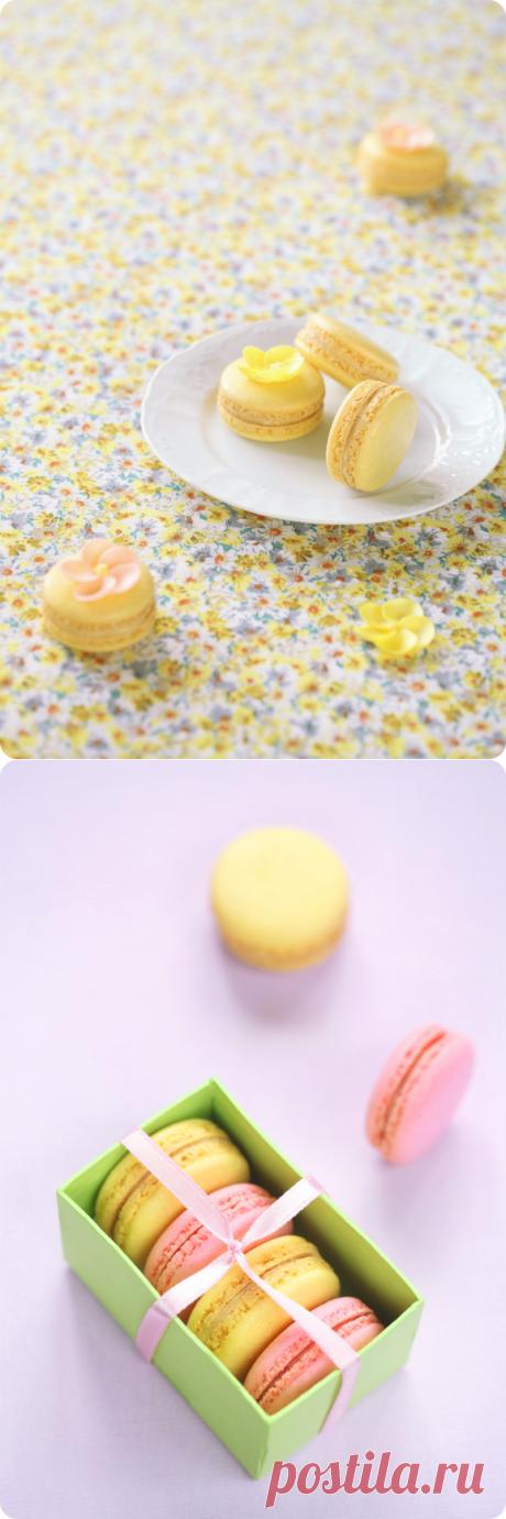 Verdade de sabor: Макаронс с маракуйей / Macarons de maracujá