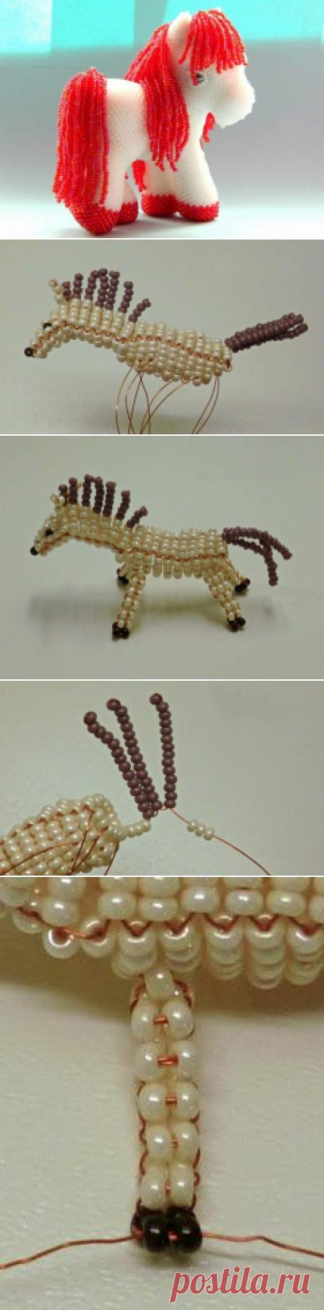 Лошадь из бисера: методика плетения с фото | Domigolki.ru