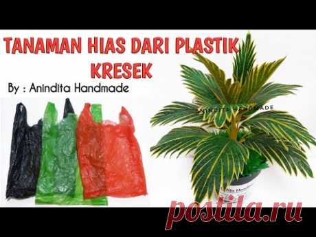 Bunga Kresek//Tanaman Hias Dari Plastik Kresek//How to make ornamental plants from plastic bags