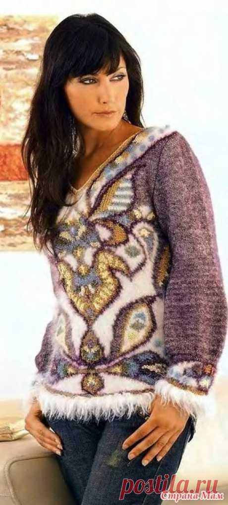 Нежный пуловер спицами. «Ирэн 2008 01»