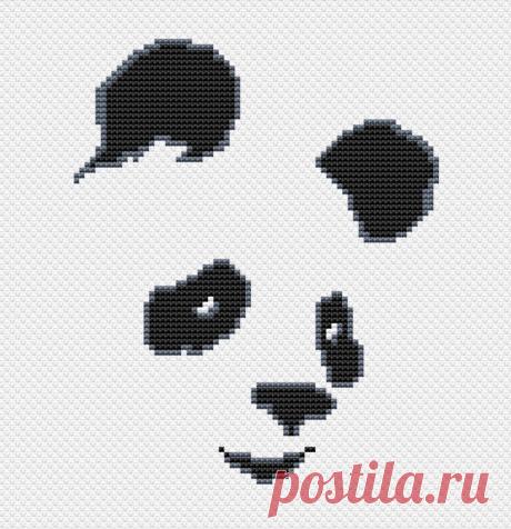 Панда. Простая схема для вышивки
