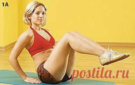 Упражнения для боков и пресса. комплекс. упражнения. картинки.