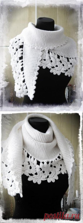 Вяжем невероятно красивый шарф крючком