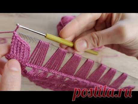 Yapımı kolay tığ işi örgü yelek etol şal modeli how to crochet knitting model