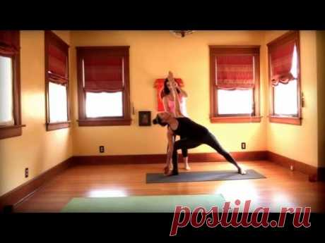 йога для начинающих - Бикрам йога Йога Вдохновленный класса с Мэгги час - YouTube