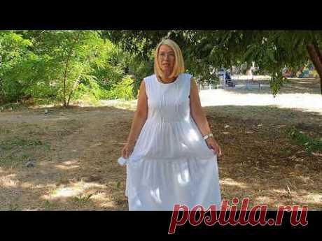 Платье-сарафан из батиста. Примерка