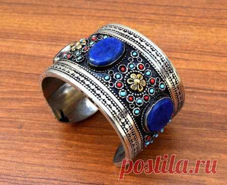 Afghan Kuchi Bracelet,Tribal Bracelet,Taureg Cuff,Hippie Bracelet,Kuchi Jewelry,Gypsy Ethnic Bracelet,Lapis Bracelet,Bohemian,Boho Bracelet   Flickr - Photo Sharing!
