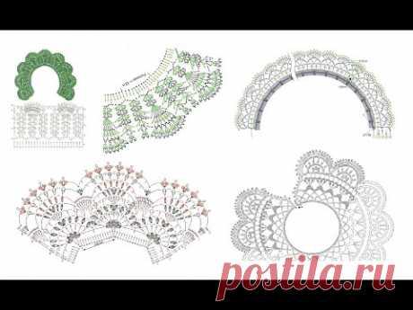 Ажурные вязаные воротнички - схемы для вязания. Crochet lace collars collection of crochet patterns - YouTube #воротниккрючком #вязаныйворотник #кружевнойворотничок #ажурныйворотничок #воротничоккрючком #воротничоксхема #воротниксхемавязания #ажурныйворотниксхема #воротниккрючкомсхема #вязаныйворотниксхема