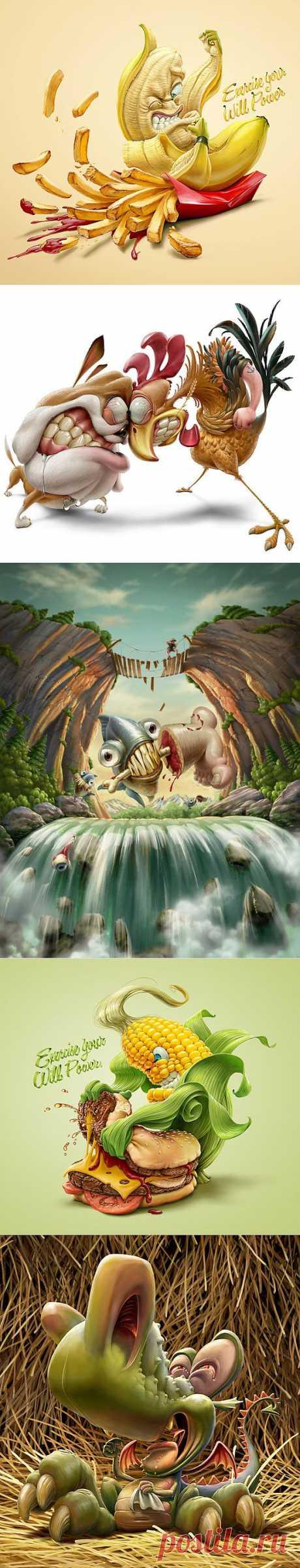 (+1) тема - Мозговыносящие иллюстрации Оскара Рамоса | Искусство