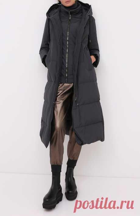 Женский черный пуховое пальто BRUNELLO CUCINELLI — купить за 420500 руб. в интернет-магазине ЦУМ, арт. MB5749585