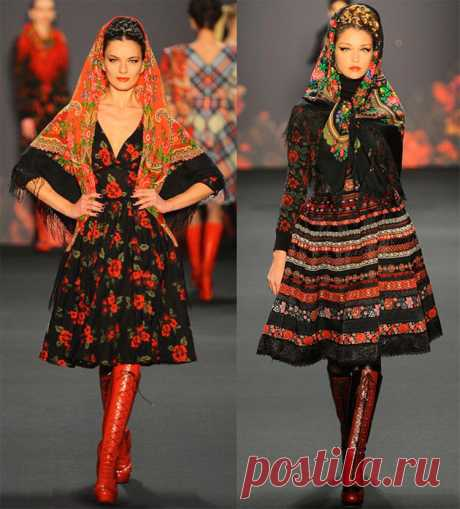 Как завязать и носить павлопосадский платок зимой и летом