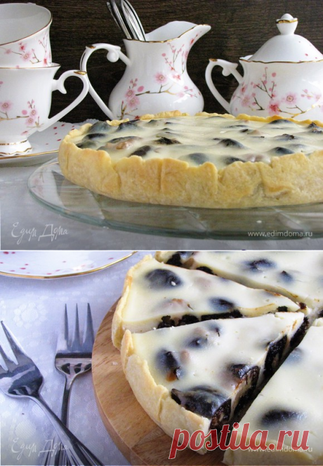 Prunes pie in sour cream to filling | the Official site of culinary recipes of Yulia Vysotskaya