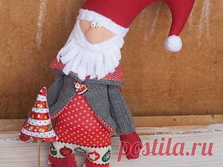 """Шьем милую игрушку """"Новогодний Дед"""" - Ярмарка Мастеров - ручная работа, handmade"""