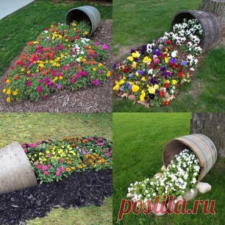 Ручей из цветов в Вашем саду. Вдохновляемся на дачное творчество.