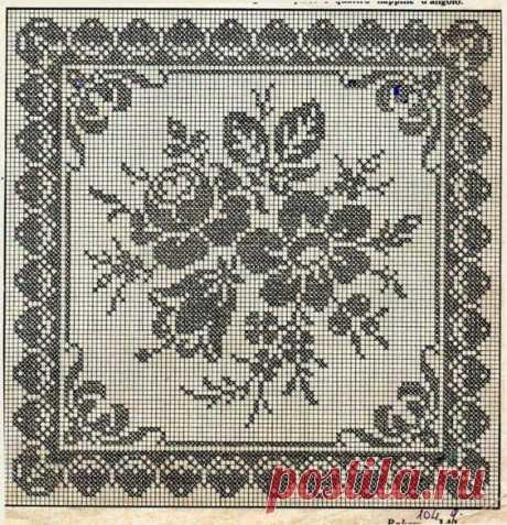 (6) Филейное вязание крючком